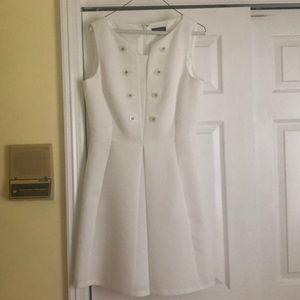 Tahari size 8 women's dress, all white.